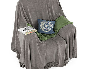 Covered armchair 3D