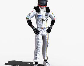 Fernando Alonso indy 2017 3D model
