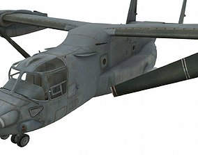 MV-22 Osprey 3D model VR / AR ready