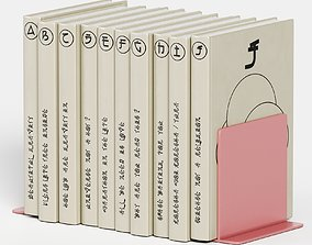 3D japanese book set
