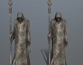statue 3D model game-ready
