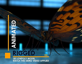 3D model animated VR / AR ready Butterfly