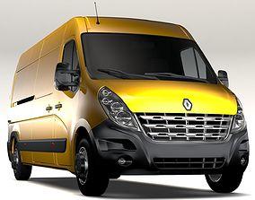 3D Renault Master L3H2 Van 2010