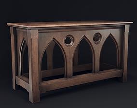 Gothic Serving Table 3D asset