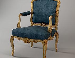 3D model Classic Armchair Louis XV Beech