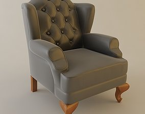 3D Wing Chair Tufted Back