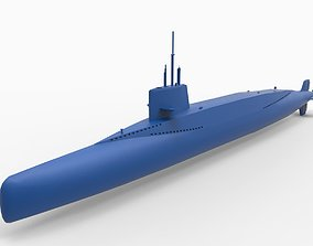 3D printable model French submarine Redoutable S611