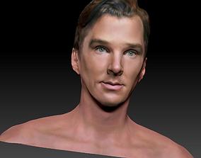 Benedict Cumberbatch textured 3d model Sherlock Dr 1