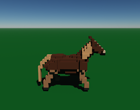 3D model Voxel Horse