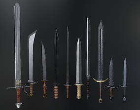 Medieval Weapons Sword Collection - 01 3D model
