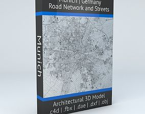 3D model Munich Road Network and Streets