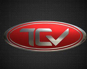 tcv logo 3D model