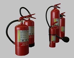 3D asset Fire Extinguishers collection set 5 Items - 1