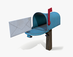 Stylized Mailbox 3D model