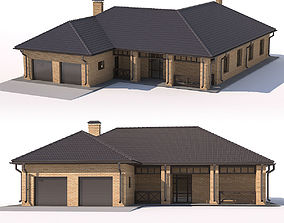 House with garage 3D model