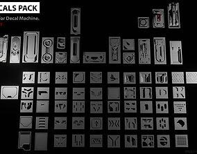 68 Sci-Fi Decals Pack 3D model