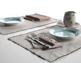 3D Maya Placemats Tableware furniture