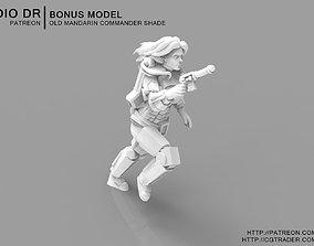 Old Mandarin Warrior - Shade 3D printable model