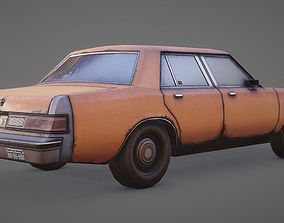3D model 1980s Generic Sedan