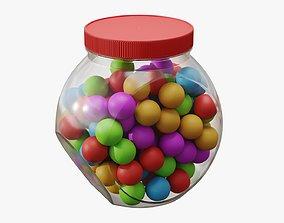 Gumballs in a jar 01 3D model