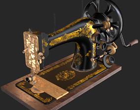 Old Antique Sewing Machine PBR 3D asset