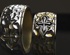 Cross forged wedding ring - original 3D printable model