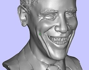 Bust of smiling Barack Obama 3D print model