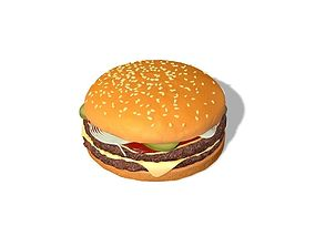 poultry 3D model Cheeseburger