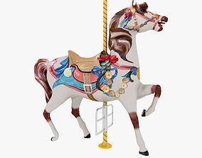 3D model Carousel Horse park merry-go-round