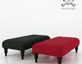 Photorealistic Vaughan Express Footstool 3D