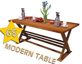 Modern Table Version 02 3D print model