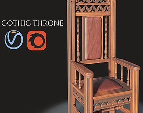 3D Gothic throne
