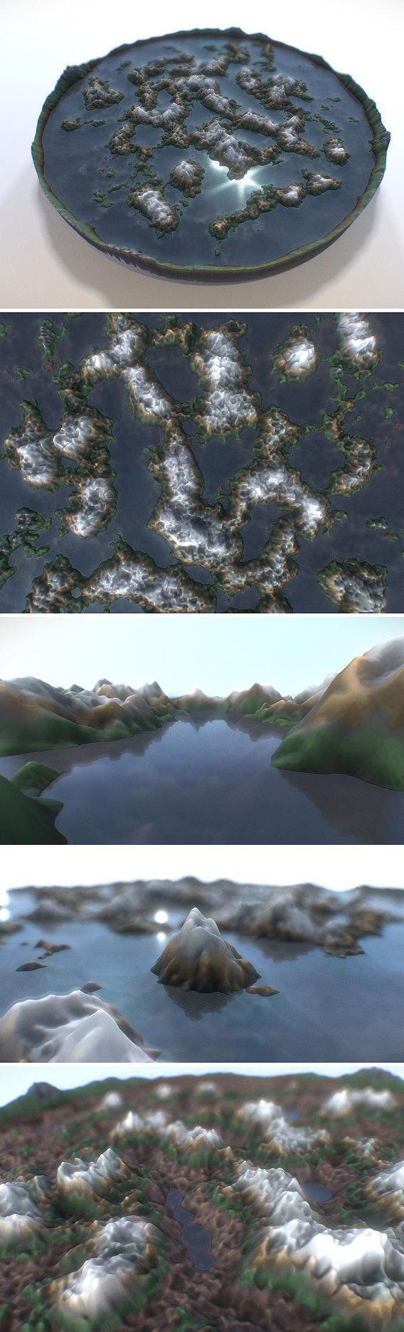 Mountain Landscape with Water Refraction and Reflection Free 3D model