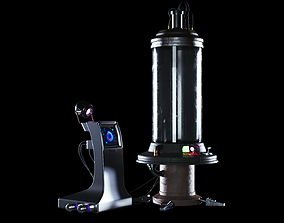 Sci-Fi Capsule Cyberpunk Laboratory 3D model low-poly