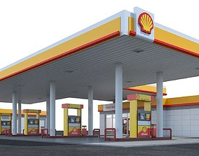 service 3D Gas station Shell