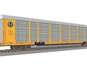 3D tracks Train Car - Car Carrier - BNSF Autorack
