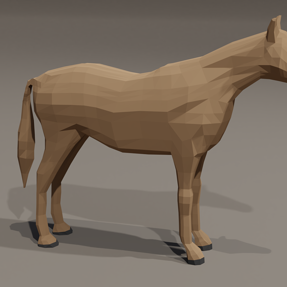 Low poly horse