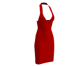 3D model Red Work Dress