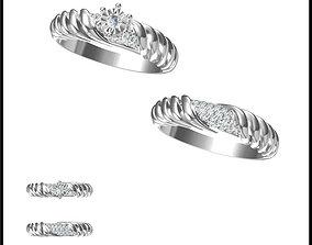 Minimalist bridal set rings wax files 3D printable model