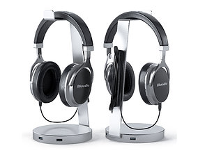 audio 3D Bluedio headphones on the stand satechi