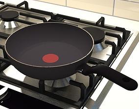 small non stick frying pan 3D asset