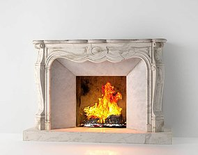 Classic Marble Fireplace 02 3D