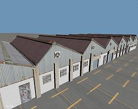 Warehouses 3D asset