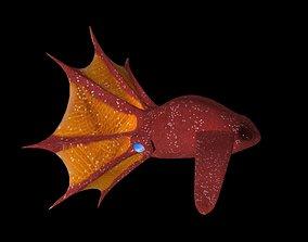 3d Vampire Squid Fish animated