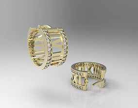 Earrings with roman numbers 3D printable model