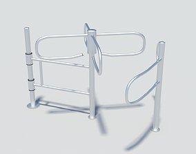 3D model Simple mechanical turnstile crowd control