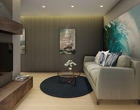 Interio House design 3d model animated