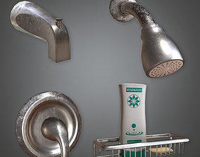 HVM - Wall Mounted Shower Set - PBR Game Ready 3D asset