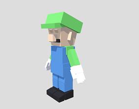 3D asset Voxel Luigi