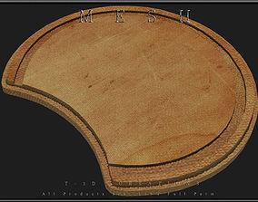 3D asset Round Chopping Board